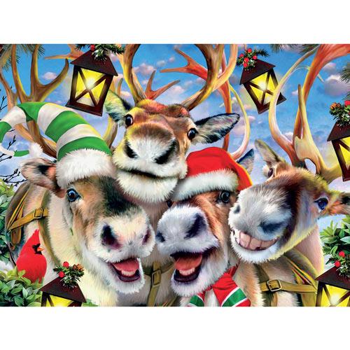 Reindeer Selfie 550 Piece Jigsaw Puzzle