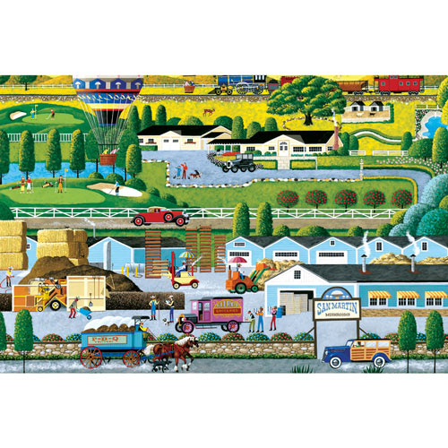 Mushroom Farm 300 Large Piece Jigsaw Puzzle