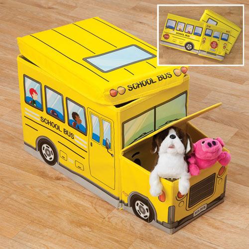 Collapsible School Bus Storage Box