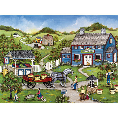 Apple Picking at Abe's 1000 Piece Jigsaw Puzzle