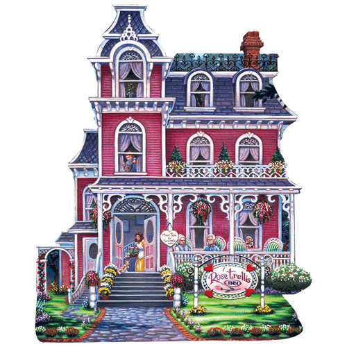Rose Trellis Inn 500 Piece Shaped Jigsaw Puzzle