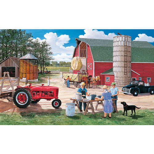Haymaker's Lunch 300 Large Piece Jigsaw Puzzle