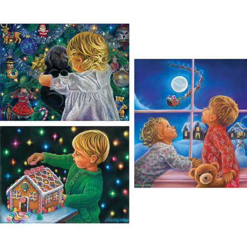 Set of 3: Tricia Reilly-Matthews 300 Large Piece Jigsaw Puzzles