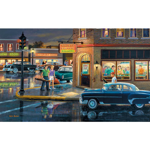 Small Town Saturday Night 300 Large Piece Jigsaw Puzzle