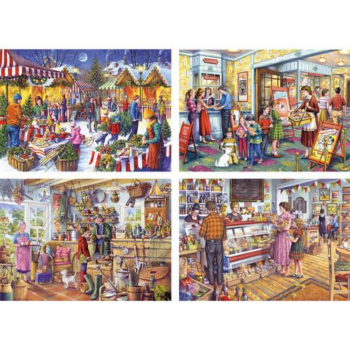 Set of 4: Tony Ryan 1000 Piece Jigsaw Puzzles