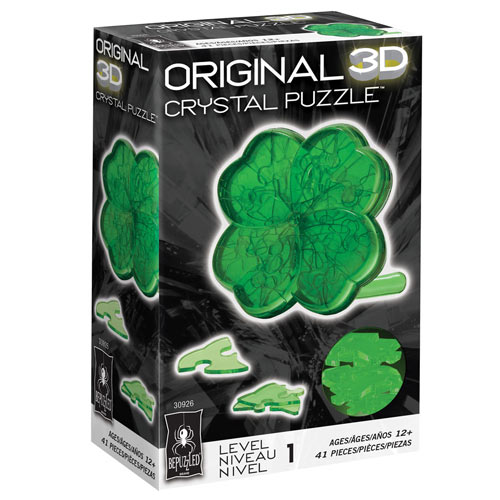 3D Crystal Shamrock Puzzle
