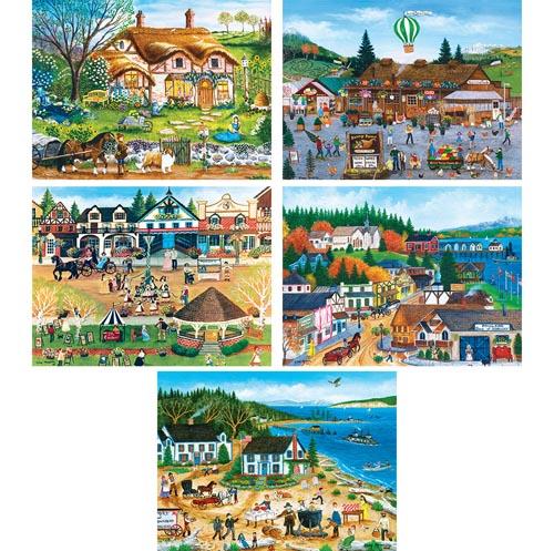 Set of 5: Cindy Mangutz 550 Piece Jigsaw Puzzles