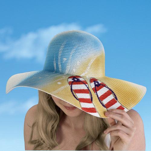 Hand Painted Beach Hat