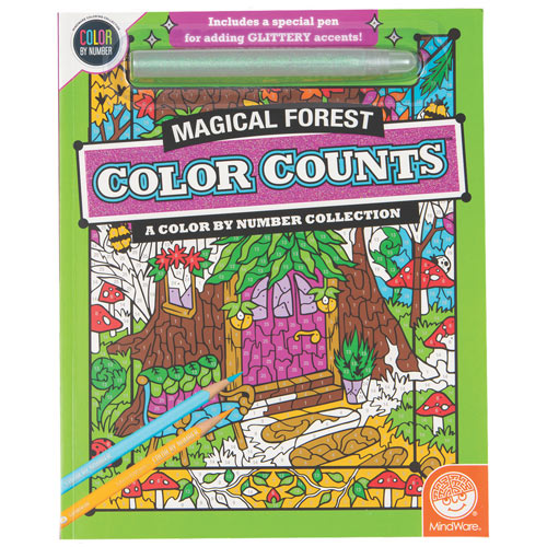 Color Counts Glitter Book- Magical Forest