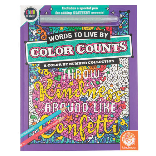 Color Counts Glitter Book- Words to Live By