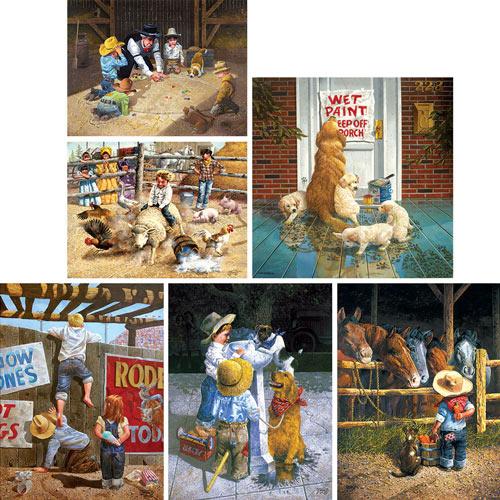Set of 6: Don Crook 500 Piece Jigsaw Puzzles
