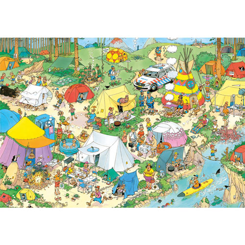 Camping in the Forest 2000 Piece Jigsaw Puzzle