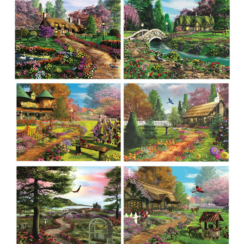 Set of 6: Caplyn Dor 1000 Piece Jigsaw Puzzles