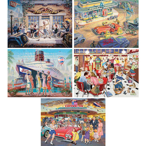 Set of 5: Pepsi Memorabilia 550 Piece Jigsaw Puzzles