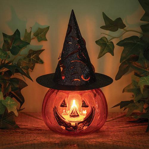 Witch Hat Pumpkin Tealight Holder