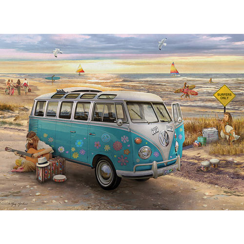 The Love & Hope VW Bus 1000 Piece Jigsaw Puzzle