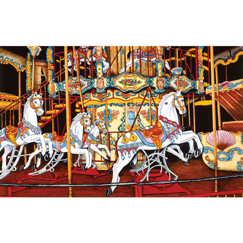 Carousel at the Fair 550 Piece Jigsaw Puzzle