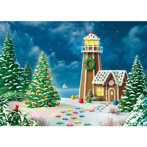 Gingerbread Light 500 Piece Glitter Jigsaw Puzzle