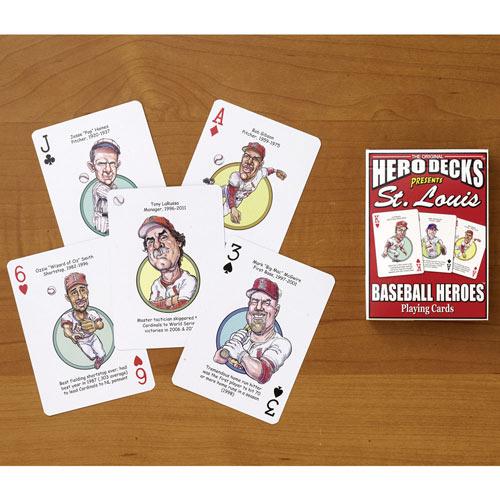Cardinals - Baseball Heroes Playing Cards