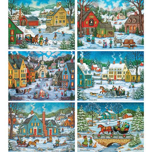Set of 6: Bonnie White 1000 Piece Jigsaw Puzzle