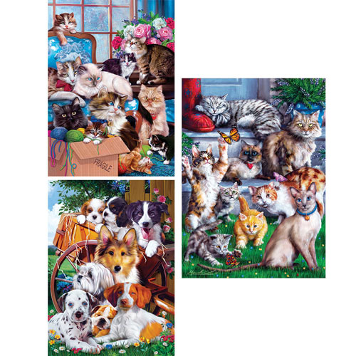 Set of 3: Marcello Corti 1000 Piece Jigsaw Puzzles