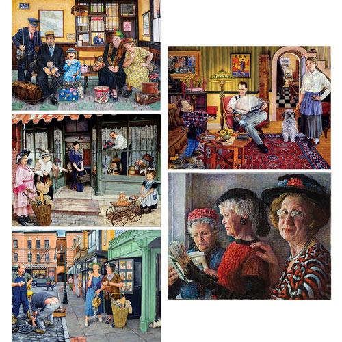 Set of 5: Susan Brabeau 300 Large Piece Jigsaw Puzzles