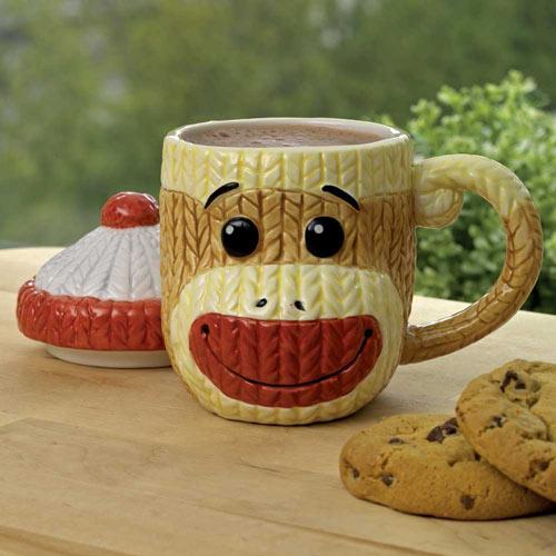 Sock Monkey Covered Mug