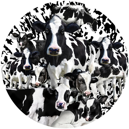 A Herd of Cows 1000 Piece Round Jigsaw Puzzle