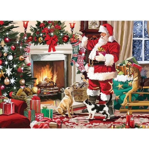 Santa's Best Friend 300 Large Piece Jigsaw Puzzle