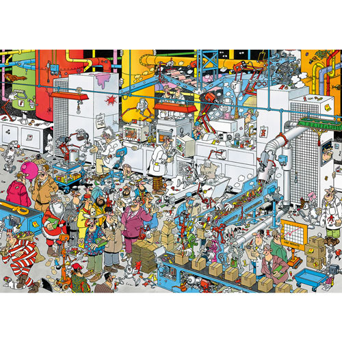 Candy Factory 500 Piece Jigsaw Puzzle