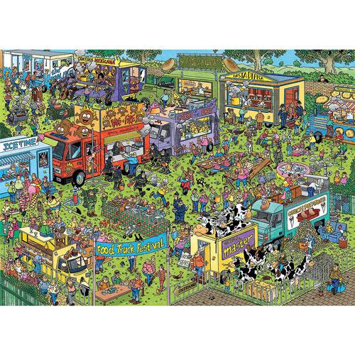 Food Truck Festival 1500 Piece Jigsaw Puzzle