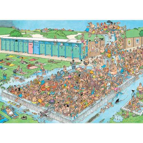 Pool Pile-Up 2000 Piece Jigsaw Puzzle