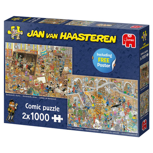 Set of 2: A Trip To The Museum 1000 Piece Jigsaw Puzzles