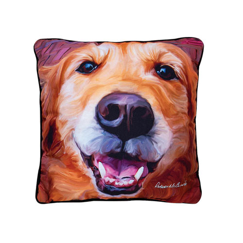 Large Dog Pillow - Golden Retriever