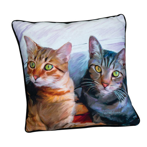 Sweepo & Toney Cat Pillow