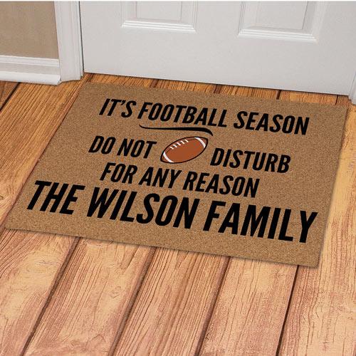 Personalized It's Football Season Doormat