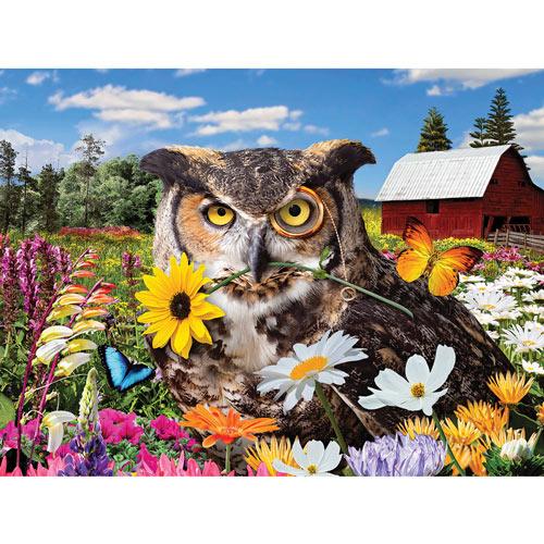 Owl Flower Fiesta 550 Piece Jigsaw Puzzle
