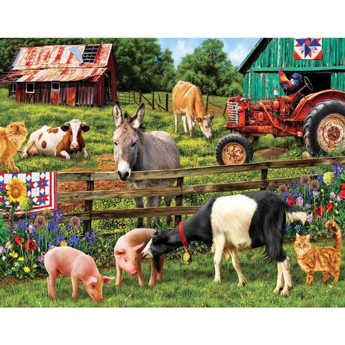 Farm Friends 750 Piece Jigsaw Puzzle