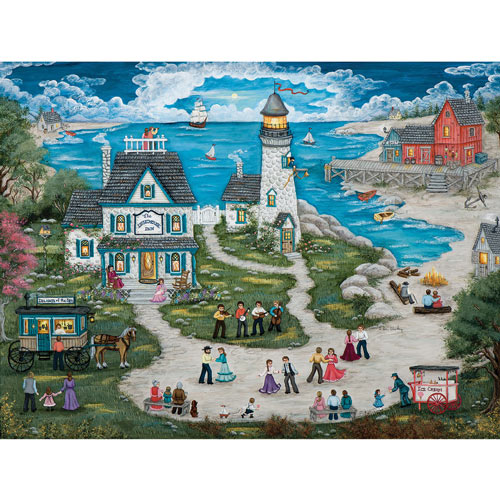 Party At The Lighthouse Inn 750 Piece Jigsaw Puzzle