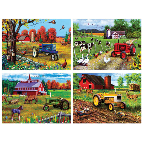 4-In-1 Farm Country Puzzle Multipack