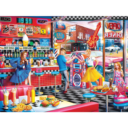 Good Times Diner 550 Piece Jigsaw Puzzle