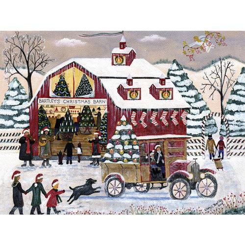 Bartley's Christmas Barn 300 Large Piece Jigsaw Puzzle