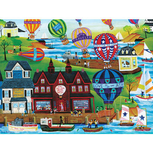 Hot Air Balloon Seaside 300 Large Piece Jigsaw Puzzle