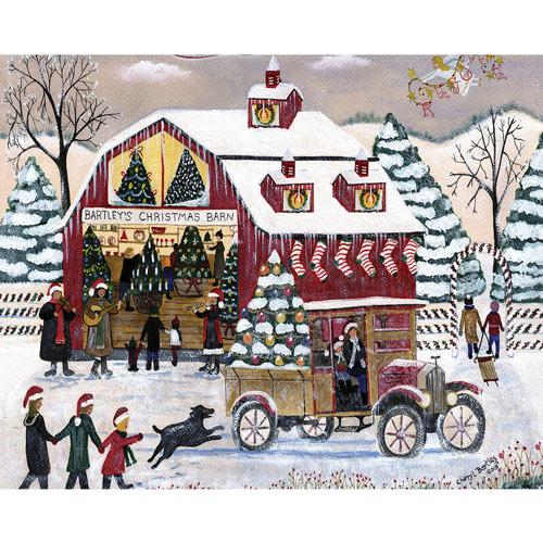 Bartley's Christmas Barn 1000 Piece Jigsaw Puzzle
