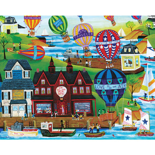 Hot Air Balloon Seaside 1000 Piece Jigsaw Puzzle