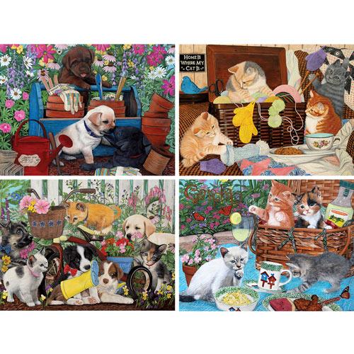 Set of 4: Julie Bauknecht 500 Piece Jigsaw Puzzles