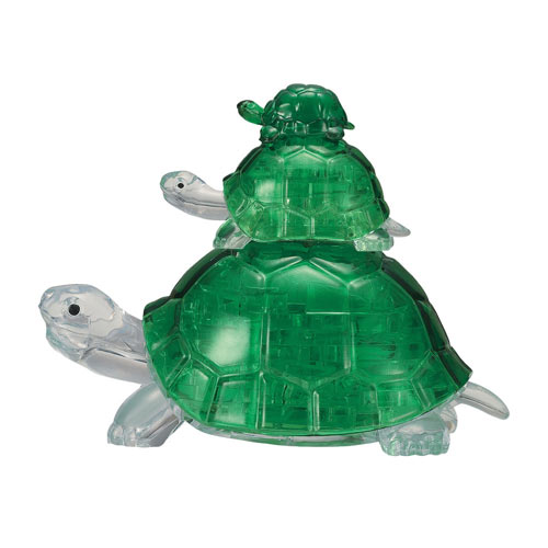 3D Green Turtle Crystal Puzzle