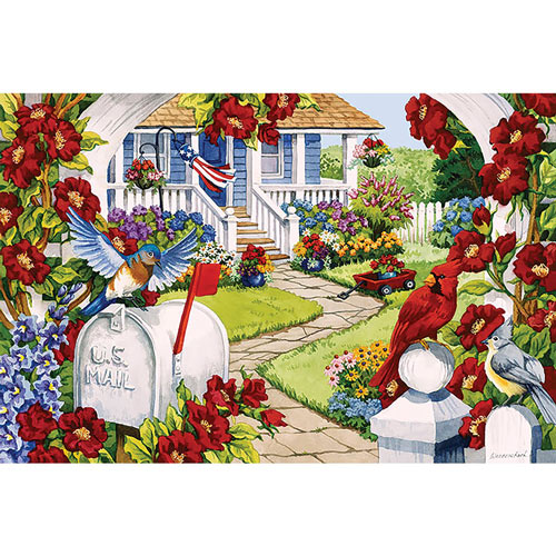Red White And Bluebird 300 large Piece Jigsaw Puzzle