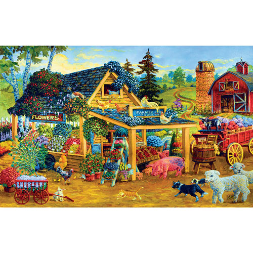 Fresh Fruits And Flowers 300 Large Piece Jigsaw Puzzle