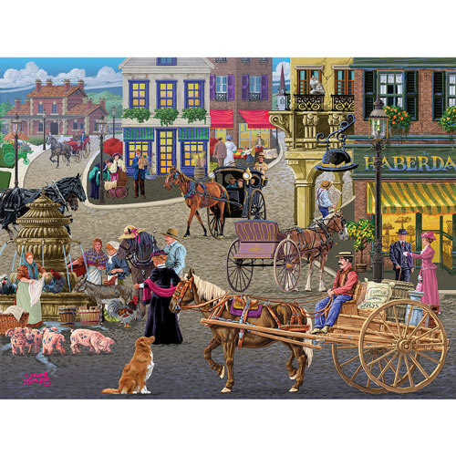 Busy Public Square 300 large Piece Jigsaw Puzzle